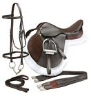17 Inch Regency All Purpose English Saddle Pkg-Regular or Wide Tree-Havana Brown