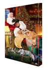 Maine Coon Cats and Kittens Sleeping with Santa Canvas Wa...