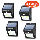 Waterproof 20 LED Solar Power PIR Motion Sensor Wall Light Outdoor Garden Lamp h