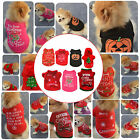 Pet Puppy Warm Jacket Jumper Clothes Winter Vest Christmas Festive Xmas Apparel