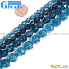 "Dyed Blue Kyanite Crystal Quartz Faceted Polygonal Beads Free Shipping15"" 6-12mm"