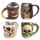 Portable Home Steel 3D Skull Knight Coffee Cup Water Mug Cup Kitchen Travel Gift