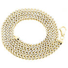 10K Yellow Gold 3D Diamond Cut Hollow Franco Box Chain 4.5mm Necklace 20-28 Inch