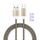US 1-3M Magnetic QUICK Connector Charger Data Transfer Micro USB Cable Lead Line