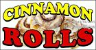 (CHOOSE YOUR SIZE) Cinnamon Rolls DECAL Concession Food Truck Vinyl Sticker