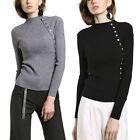 Trendy Autumn Pure Color Women Slim Bottoming Sweater Long Sleeve Sweater New