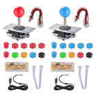 Zero Delay Arcade Game Kit Push Buttons Joystick USB Encoder Game Parts for MAME