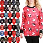 Ladies Womens Snowman Snowflakes Christmas Fleece Santa Knit Mini Bodycon Dress