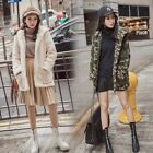Women;s Coat Warm Winter Thick Loose Outwear Jacket Cardigan Camo Korean Casual