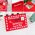 Lots Christmas Cards Candy Bag Tree Decor Santa Envelope Red Non-woven Letter