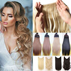 Secret Headband Elastic Wire One Piece No Clip Hair Extensions Curly Straight TE