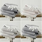 100% Cotton Safi Woven Herringbone Sofa Chair Settee Bed Throw Fringed Blanket