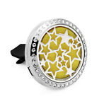 NEW Car Air Freshener Essential Oil Fragrance Diffuser Locket Free 10pcs pads