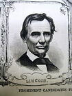 1860 illustrated newspaper w poster REPUBLICANS for PRESIDENT incl ABE LINCOLN