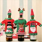 Cute Red Wine Bottle Cover Bags Snowman/Santa Claus Christmas Decoration Gift