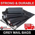 All Sizes 57mu Grey Mailing Bags Postal Postage Post Mail 6x9 9x12 10x14 17x24