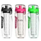 900ML Fruit Infusing Infuser Water Bottle Plastic Sports Detox Health TC