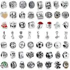 European Family Charms Bead Pendant Fit Sterling 925 Silver Bracelets Necklace
