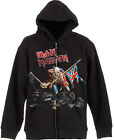 IRON MAIDEN Scuffed The Trooper HOODIE SWEATSHIRT + ZIP OFFICIAL MERCHANDISE
