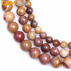 Natural Round Yellow Sunset Mookite Jasper Loose Beads Jewelry Making Strand 15""