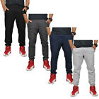 Alta Fashion Men's Plain Slim Casual Sweatpants Joggers with 3 Zippered Pockets