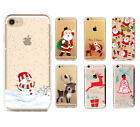 Christmas Festive Santa Reindeer Phone Case Cover For iPhone X 5 S SE 6 7 8 Plus
