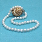 """Fashion Genuine AAA 8-9mm White Round Cultured freshwater pearl Necklace 17"""" 18"""""""