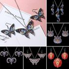 New Handmade Printing Animal Butterfly Tiger Necklace Earrings Set Women Jewelry