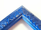 Small Regal Blue Victorian Wood Ornate Picture Frame-Custom Square Sizes