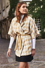 Anthropologie Women's New Houndstooth Wrap Coat Size XSmall/Small