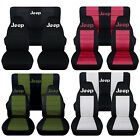 Fits 1997 to 2002 Jeep Wrangler Jeep Paw Prints Seat Covers 22 Color Options