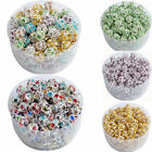 10PCS 6/8/10 MM Austria Crystal Spacer Loose Beads Charms DIY Jewelry Making