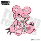 Zombie Teddy Bear Decal Pink Dead Cute Zombies Gloss Sticker (RH) HGV