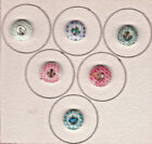 CALICO CHINA  PORCELAIN  BUTTTONS mix lot of 6