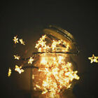 Christmas 3M Fairy LED Stars Copper Wire Light Wreath Twinkle Light Party Decor
