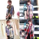 Unisex Multi-function Plaids Tassel Fringe Blanket Scarf Wrap Shawl Fall DZ88 01