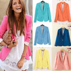 PLUS SIZE XS-2XL Womens Casual Solid Color Business OL Blazer Jacket Basic Coat