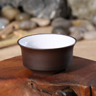 Yixing Zisha Brown Clay Three Legs Cup with White Glaze Inside Teacup 45ml 1.5oz