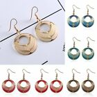 Fahison Vintage Hollow Round Drop Hook Earring Women Jewelry Party Wedding Gift