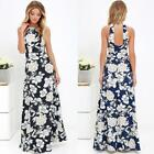 Women Summer Bandage Bodycon Floral Evening Party Cocktail Long Maxi Dress N9J2