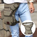Men's Outdoor Tactical  Canvas Cycling Fanny Pack Waist Bag Thigh Leg Bag Gift