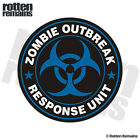 Zombie Outbreak Response Unit Blue Decal Control Team Gloss Sticker HGV
