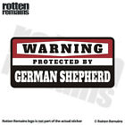 German Shepherd Warning Protected by Guard Dog Security Decal Gloss Sticker HGV