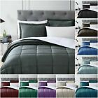 Chezmoi Collection Micromink Sherpa Reversible Down Alternative Comforter Set image