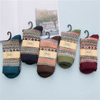 1 Pair Cotton Wool Blend Winter Warm Sock Bohemian Style Cosy Free Size Sock