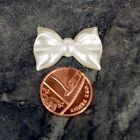 Ivory Pearl Bead Shaped Solid Bows Large or Small Wedding Cards 28mm 35mm