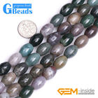 Natural Indian Agate Olivary Rice Beads For Jewelry Making Free Shipping 15""