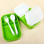 Portable 2 Layers Bento Lunch Box Plastic Food Container Lunch Container Student