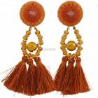 Women Hanging Drops Tassel Long Earrings Ethnic Style Dangle With DZ88 01