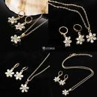 Women Metal Lobster Claw Clasp Chain Pendant Necklace and Earrings DZ88 01